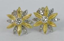 Butterfly Yellow Gold Good VS1 Fine Diamond Earrings