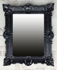 Wall Mirror Black Antique Baroque Bathroom Floor Vanity 56x46 cm