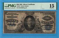Fr. 321 1891 $20 Silver Certificate PMG Choice Fine 15