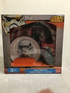 Disney Star Wars 3 Piece Mealtime Set New Darth Vader  Dinnerware Cup/Bowl/Plate