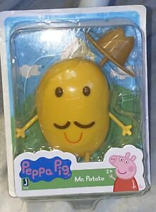 NEW Rare 2003 Peppa Pig MR. POTATO ACTION FIGURE TOY w/ Hat Jazwares MOC VHTF