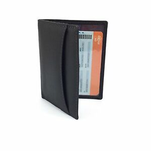 BLACK Leather Travel Train Bus Oyster Pass ID Card Holder MALA LEATHER 555 14