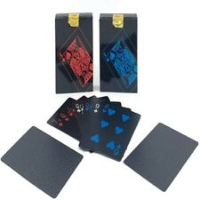 Waterproof Plastic Playing Cards Collection Poker Cards Magic Table Games Black