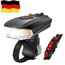 USB LED Fahrradbeleuchtung Fahrrad Licht Fahrad Scheinwerfer Fahrradlampe DE Neu