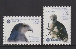 Ecuador - 2003, International Vogel Festival Set - MNH - Sg 2696/7