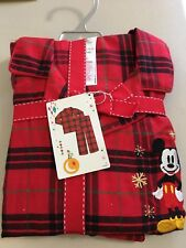 Disney store Mickey Mouse Plaid Men pajama set Christmas Holiday Men NEW