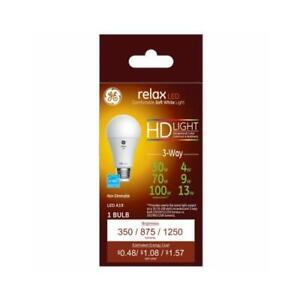 Relax HD LED 3-Way Light Bulb, Soft White, 4/7/13-Watts