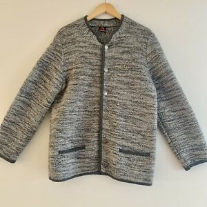 Giesswein Tirol Women's Thick Wool Cardigan Jacket Size Large