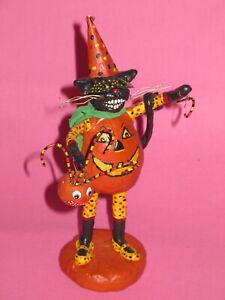 Primitive Halloween Decoration - Pumpkin Black Cat - LE25