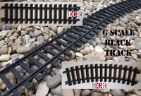 NEW G SCALE 45mm GAUGE BLACK HARD PLASTIC RAILWAY TRAIN TRACK CURVES STRAIGHTS