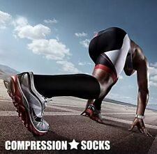 2 PAIRS. Compression Socks for Running, Standing, Sizes S-XXL. Ships FREE & FAST