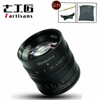7artisans 55mm F1.4 APS-C Manual Fixed Lens for Fuji X Mount Cameras +Free Gift