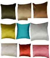 Plain Luxury Faux Silk Cushion Covers Various Color Square Filled Unfilled