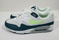 Nike Air Max 90/1 Mens Running Shoes White Lime Blast Wolf Grey Size 11
