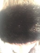 Black Mink Fur Headband Head Wrap Neck Warmer Collar Canada