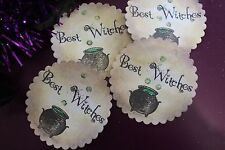 Handmade 'Best Witches' Halloween Favour Bag/Envelope Stickers x 10