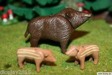 Playmobil® Wildschwein Bache mit Ferkeln / Wald / Tiere /   EBTI24