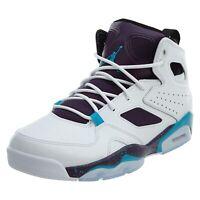 NEW Nike Air Jordan '91 Flight Club White/Purple/Blue Size 8.5 Men's 555475-105