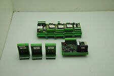 Phoenix Contact Mixed Lot Of 8 Withdin Rail Mounts Ge073e 1548 Ge348a S 6398