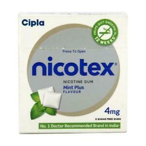 Cipla Nicotex Gum - 4 mg | Chewing Gum (153 Gums) | MINT PLUS | Free Shipping