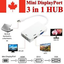 3 in 1 Mini Display Port to HDMI VGA DVI Adapter for MacBook Laptop Computer