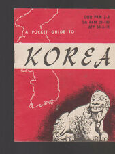 Pocket Guide to Korea 1956 Armed Forces Information Booklet