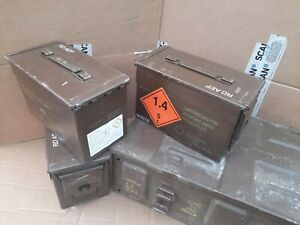 MILITARY AMMO  BOXES JOB LOT ! 3 IN 1 .DEAL(50cal x 3 , and 1 large ammo box ,