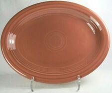 "Vintage Fiesta Rose Fiestaware Homer Laughlin Oval Serving Platter 12.5"" 1950s"