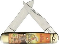 Rough Rider Moose Roy Rogers Pocket Knife Stainless Steel Blade Acrylic Handle