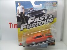 FAST & FURIOUS 7 PLYMOUTH ROADRUNNER 1970 ORANGE MATTEL MINT IN BOX MATTEL
