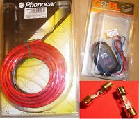 COPPIA CAVI ALIMENT. PHONOCAR 4/283 + G&BL ENGINE NOISE FILTER G&BL + 2 FUSIBILI