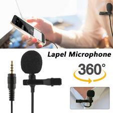 Ansteckmikrofon Doppelt Mikrofon Clip-On Microphone 3.5mm PC Smartphone