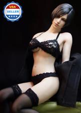 "1/6 scale BLACK Lace Bra Panties Set for 12"" Phicen Female Figure"