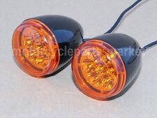 2X Black Front Turn Signal LED Light For Harley-Davidson XL 883 1200 Sportster