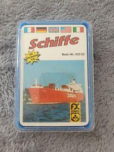 Quartett Kartenspiel FX Schmidt Schiffe 70er Jahre Rar Vollständig M