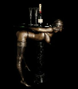 FINE ARTS Wohnkultur Bronze Sculpture Figure Console Table Erotic Woman