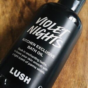 RARE LUSH COSMETICS KITCHEN EXCLUSIVE VIOLET NIGHTS BATH OIL 100G DISCON NEW
