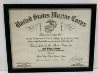 1967 United States Marine Corps The Basic Course Certificate NAVMC 184-PD