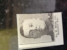 a1a ephemera 1917 ww1 small picture pte w mills manchester regt