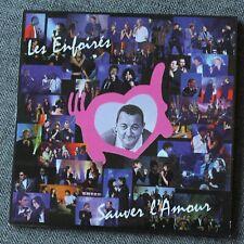 Les Enfoirés - Restos du coeur, sauver l'amour - johnny hallyday ect, CD single