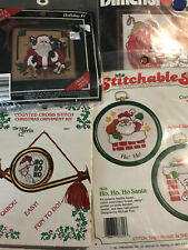 4 Small Christmas Embroidery/Cross Stitch Kits dimensions Paragon Needlecraft