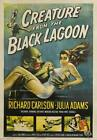 "Creature From Black lagoon VINTAGE HORROR Movie - *FRAMED* CANVAS ART 24x16"""