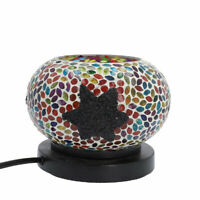 Shungite Star Mosaic Turkish Table Lamp Himalayan Rock Salt E-26 Bulb Required