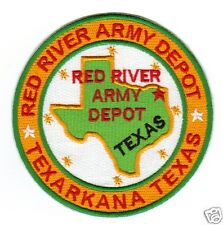 US ARMY POST PATCH, RED RIVER ARMY DEPOT, TEXARKANA ARKANSAS                   Y