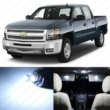 12 x White LED Interior Light Package For 2007 - 2013 Chevy Silverado + PRY TOOL