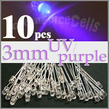 10 x 3mm Round UV/ Purple LED Light Emitting Diode Lamp