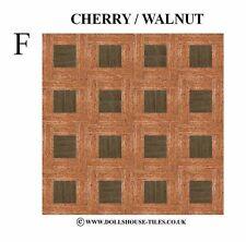 DOLLS House miniature, Woodblock flooring.wood Floor tiles.wb 7, lettera f) 1 / 12th scale