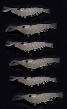 6 x Glow in the Dark Shrimp. Soft Bait for Night Fishing Dark Water & Deep Sea