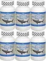6 Bottles 100% Natural Shark Cartilage, 750mg, 100x6 = 600caps