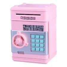 Digital Moneybox Girls Pink Cash Coin Saving Money Box Banks Piggy ATM Coin Jar